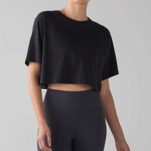 LuluLemon black crop top